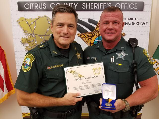 Dep. Chad Yerbury-Medal of Commendation
