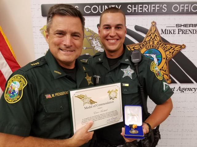 Dep. Evan Marshall – Medal of Commendation