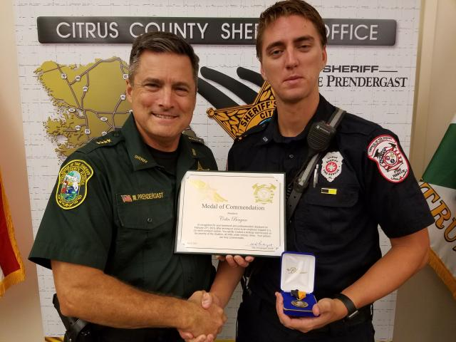 Firefighter Colin Beagan – Medal of Commendation