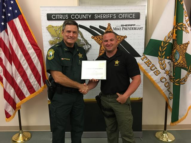 Dep. Blotz - Certificate of Commendation