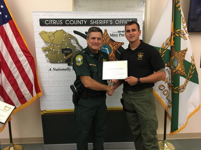 Dep. Dowling - Certificate of Commendation