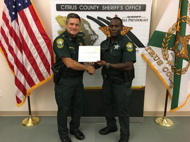 Dep. Watts - Certificate of Commendation