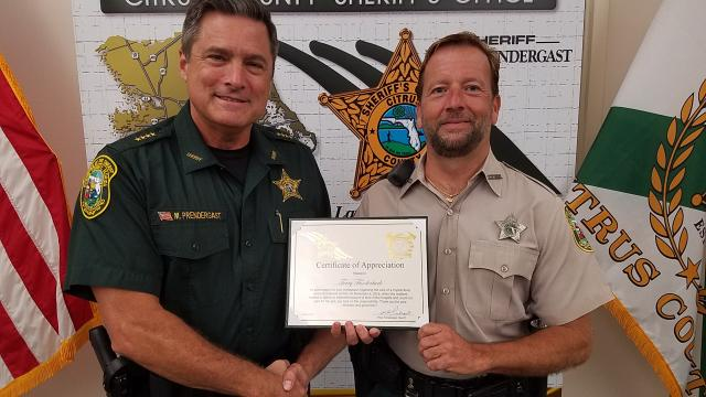 ACO Terry Funderburk - Certificate of Appreciation
