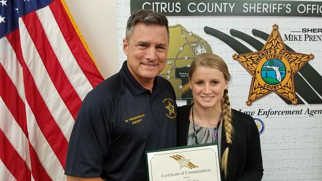 Chelsea Burkhart - Certificate of Commendation