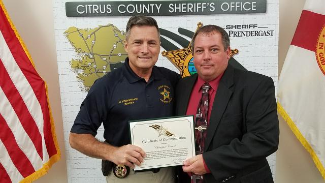 Det. Christopher Cornell - Certificate of Commendation